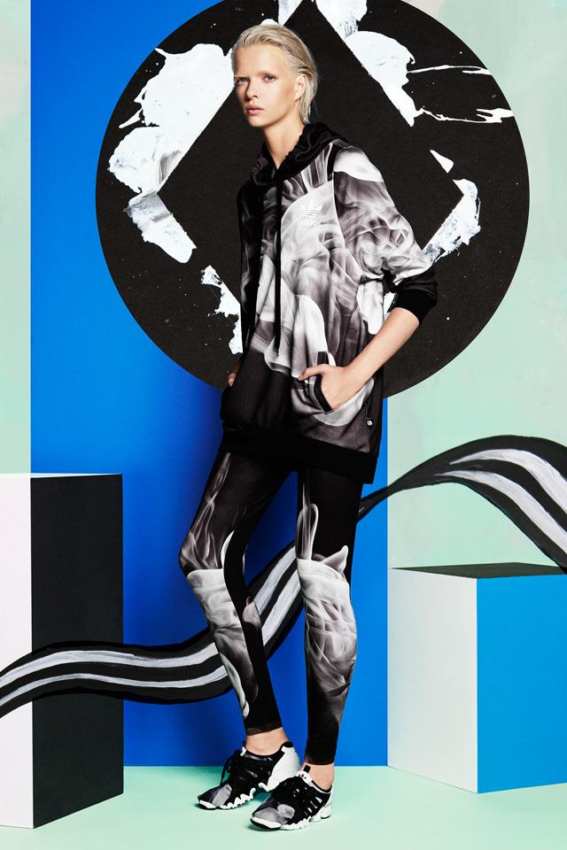 Adidas Originals Sudadera White Smoke Rita Ora (negroblanco)