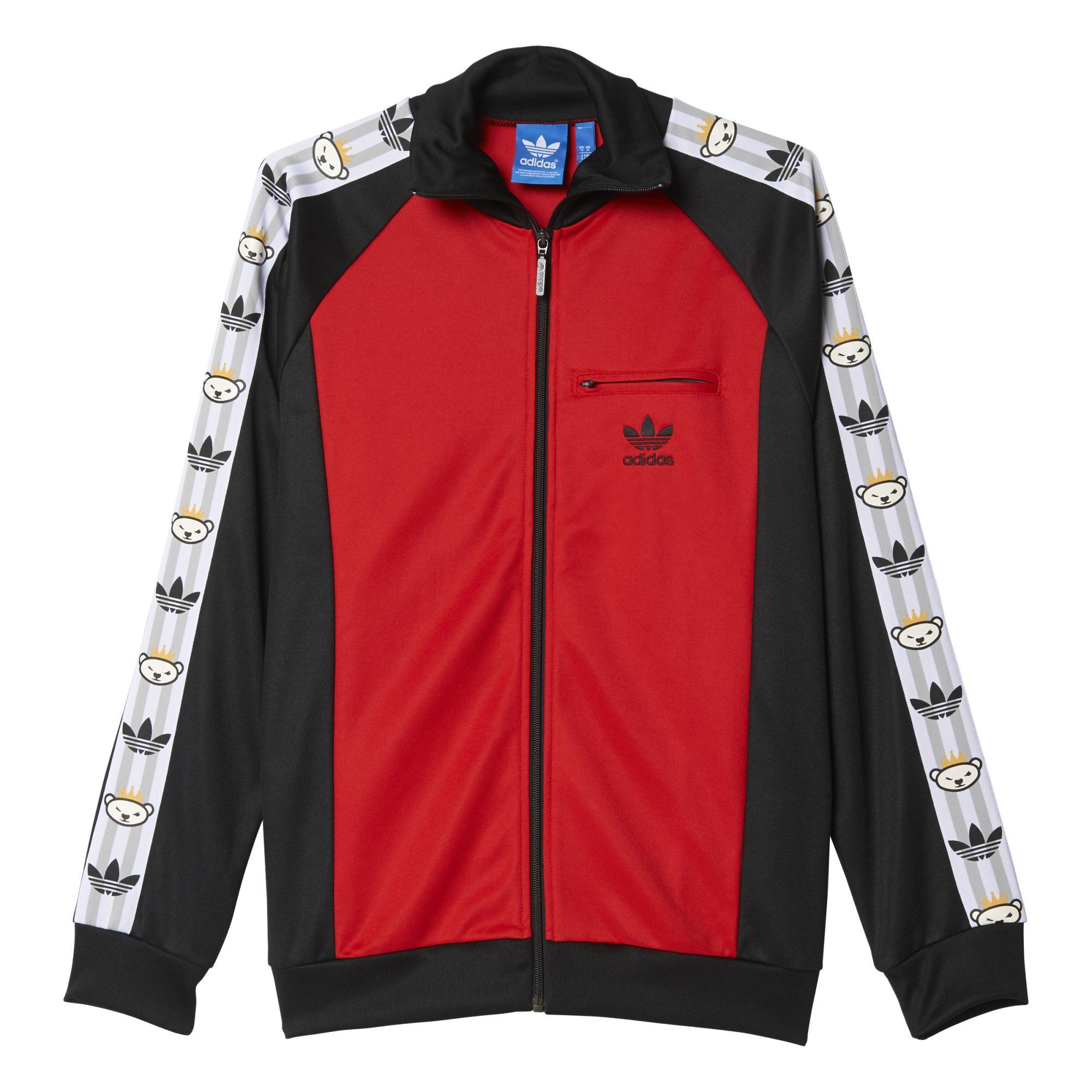 Deflector objetivo cómodo  Adidas Originals Chaqueta Retro Bear By Nigo (rojo/negro/blanco)