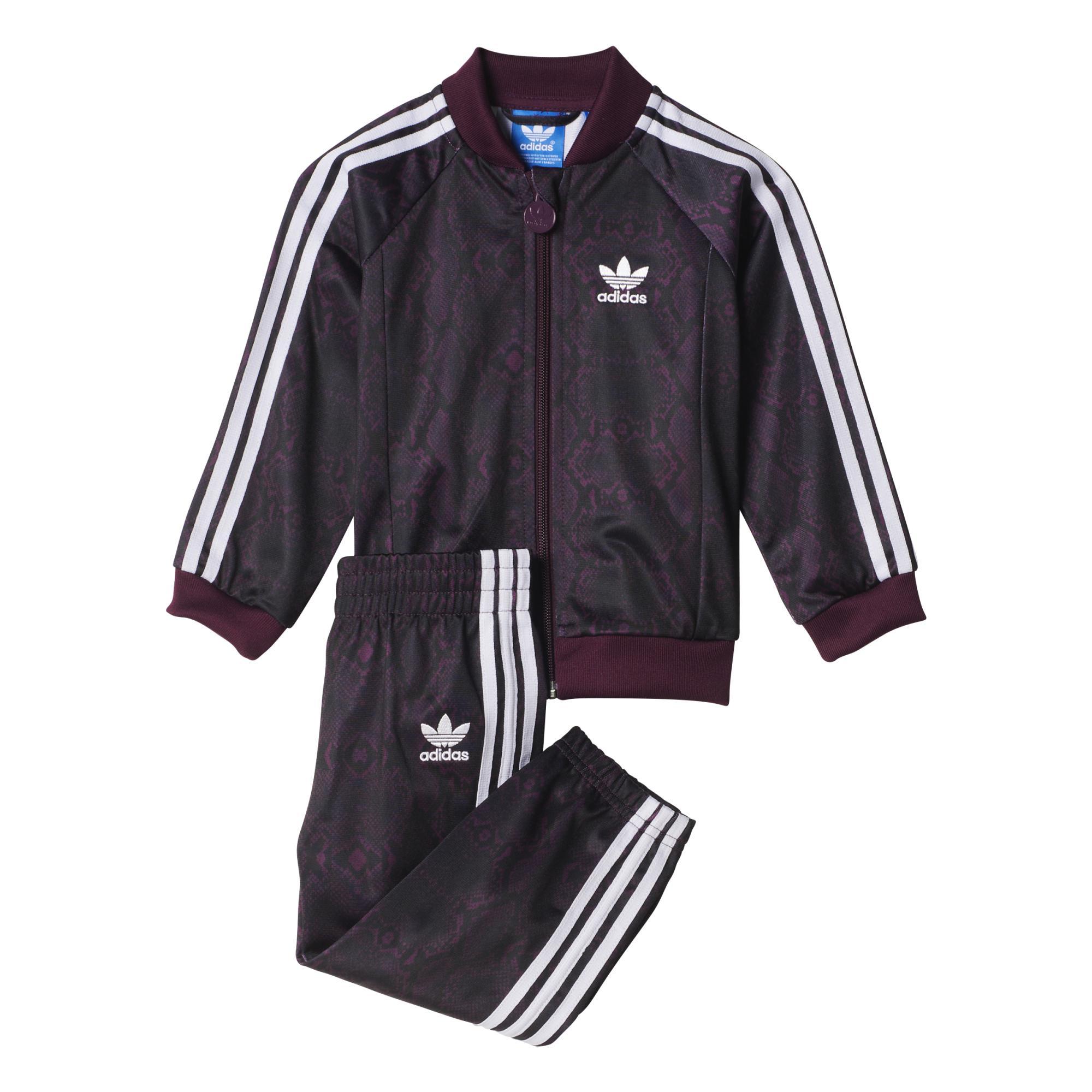 c0a8ba472 Adidas Originals Chándal Superstar Snake Infantil (morado negro blanco)