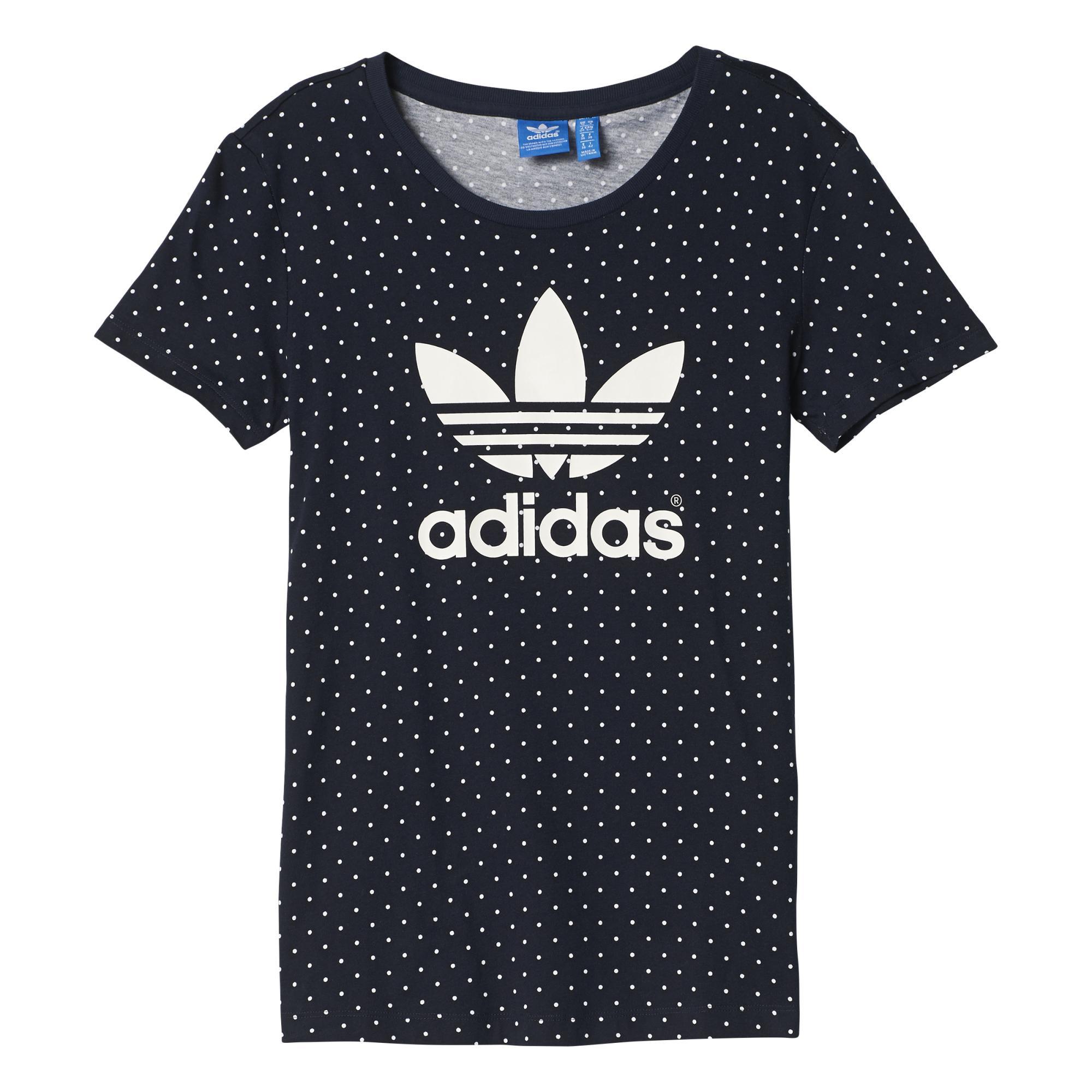 Originals Camiseta Aop Graphic Mujer Adidas Toposmarinoblanco CdoBrxe