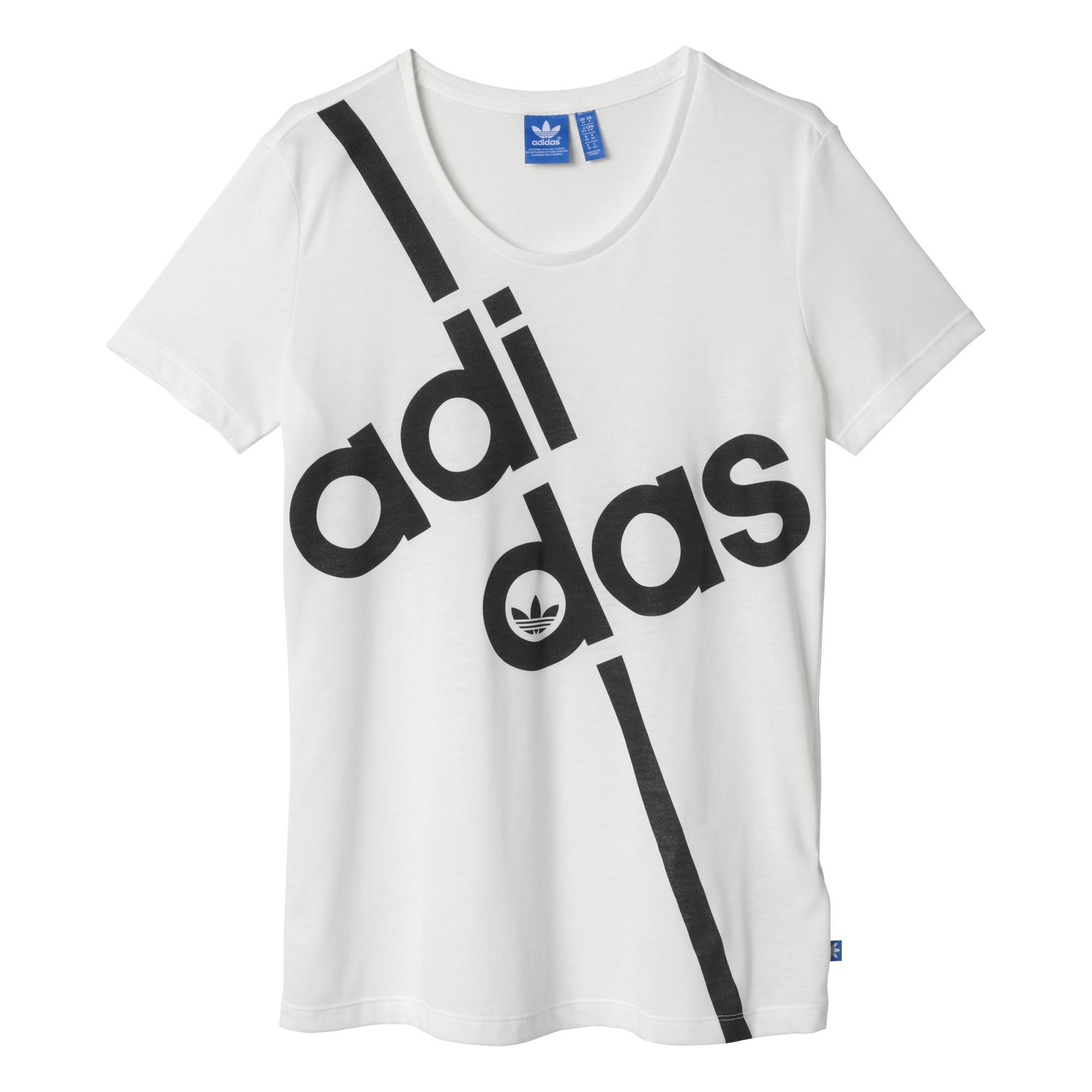 8e517fd51e0 Adidas Originals Mujer Camiseta Superstar Linear (blanco)