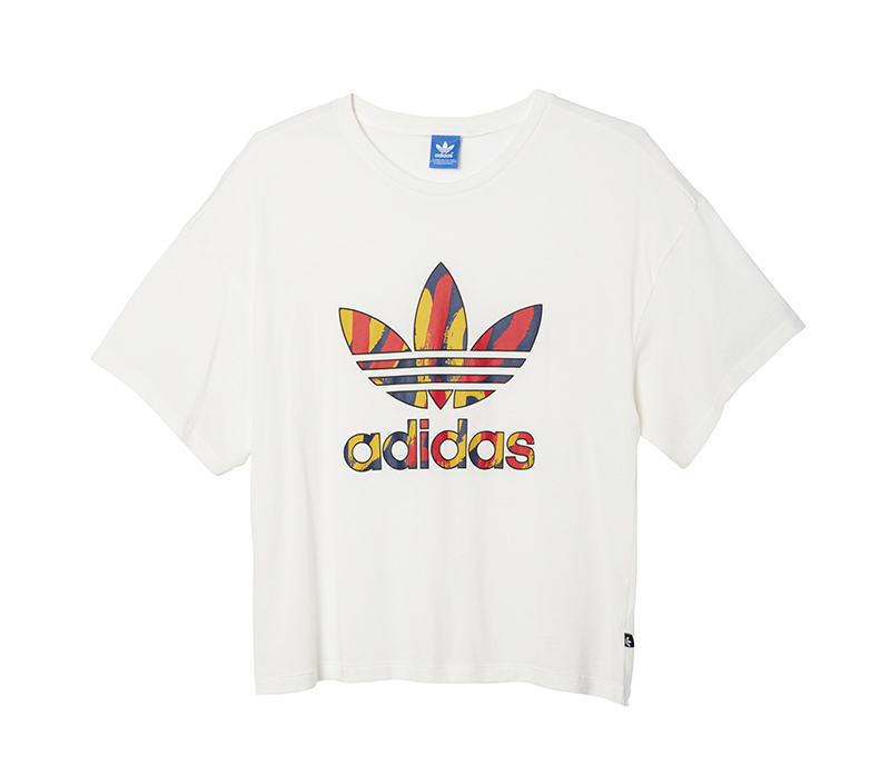 Trefoil Originals blanco Logo Adidas Camiseta Paris Mujer Bp4wqfA
