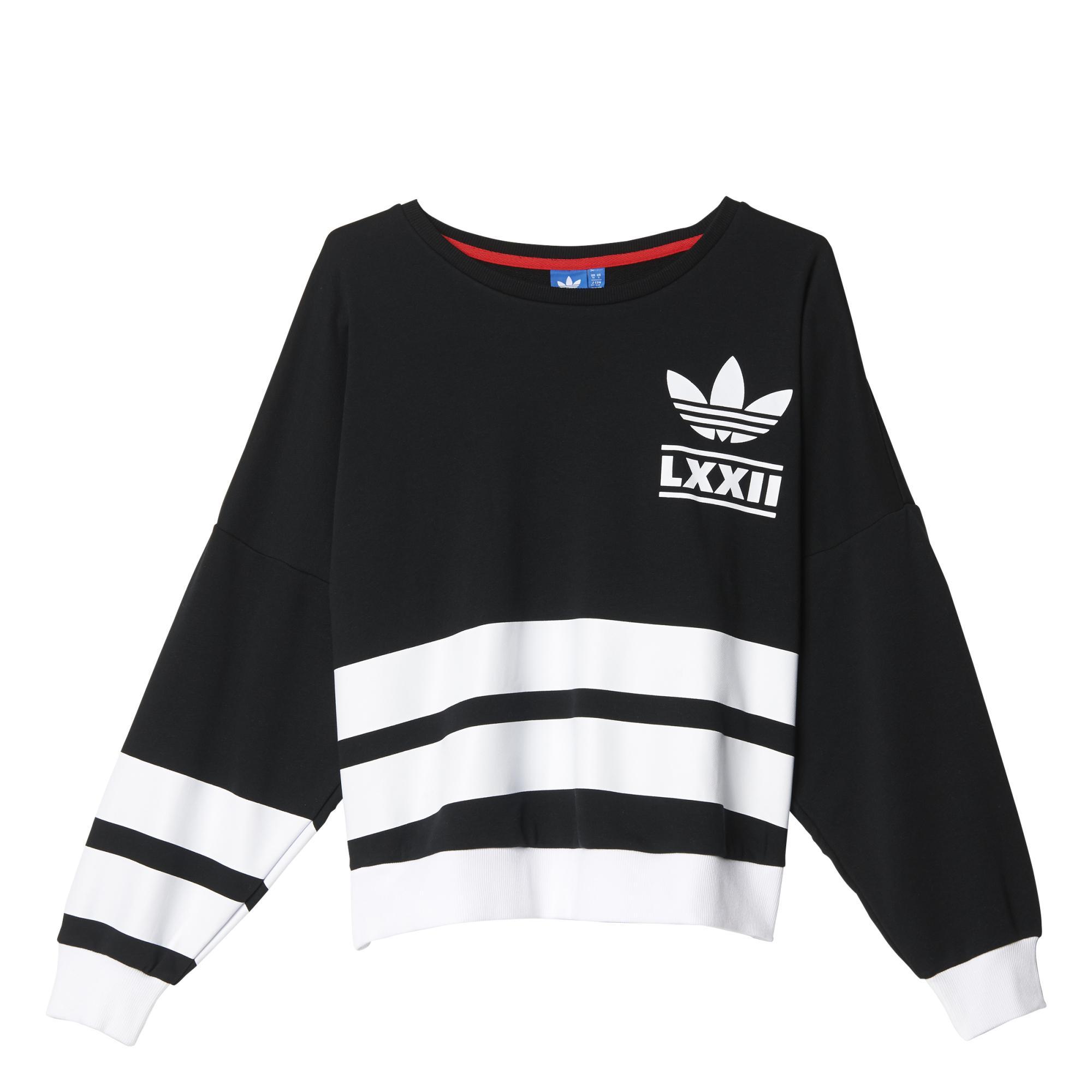 Originals Berlin Mujer Stripes 3 Adidas Logo Sudadera 04Bx77 e8016185fb4