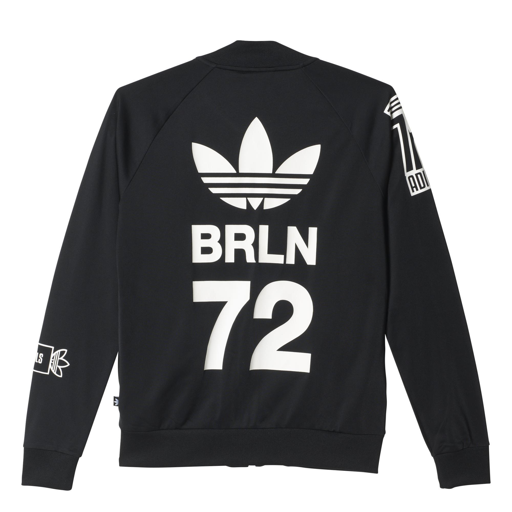Adidas Originals Chaqueta negroblanco Mujer Badge Logo Berlin pxAprOZqwn