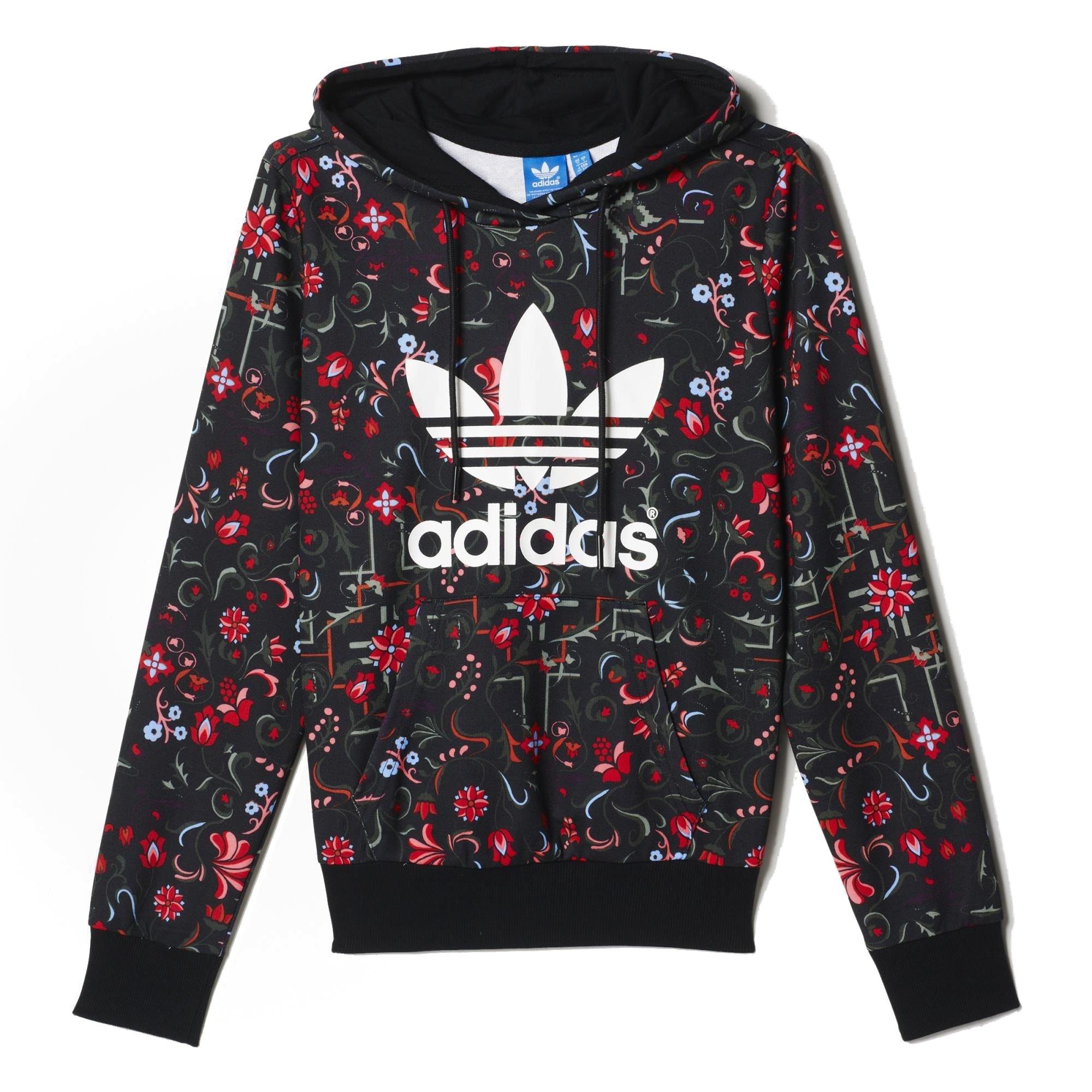 Adidas Trefoil Originals Logo Mujer Prin Allover Flower Sudadera wpqSpOrt e66aa26641d85