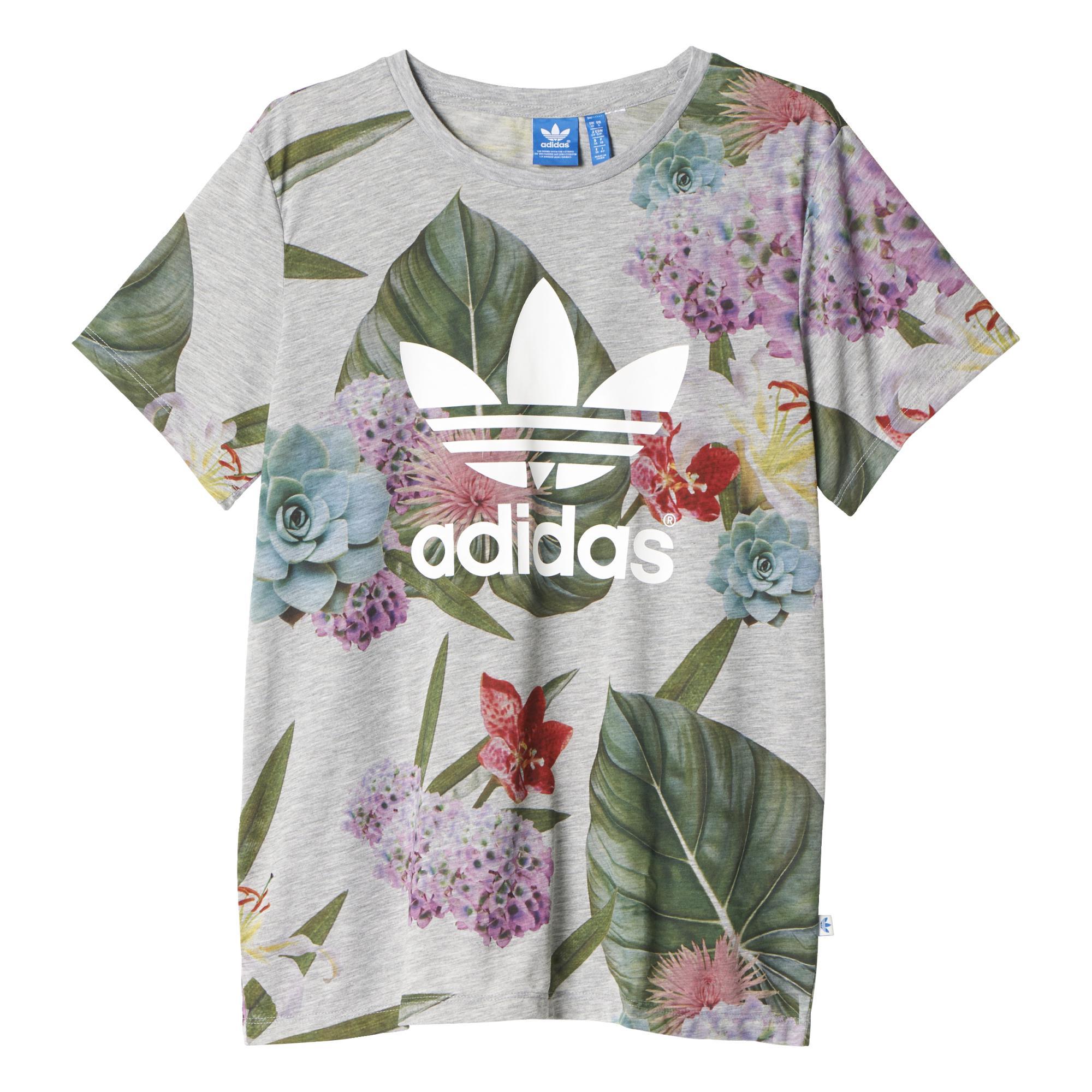 como el desayuno Anticuado Húmedo  camiseta flores adidas - Tienda Online de Zapatos, Ropa y Complementos de  marca