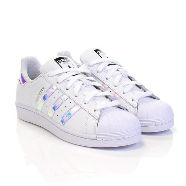 Adidas Originals SUPERSTAR J (blanco tornasol) b831bb0e3a4b3