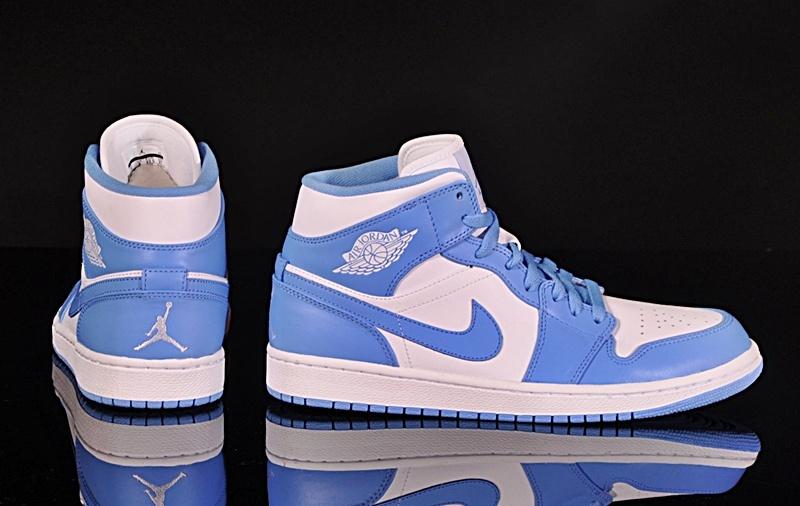 air jordan 1 mid azules mujer