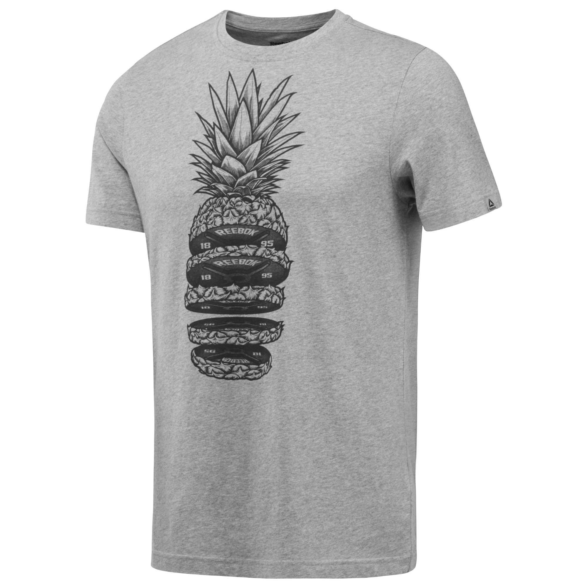 Reebok Pineapple Weights T-Shirt (grey) 2af9a1704