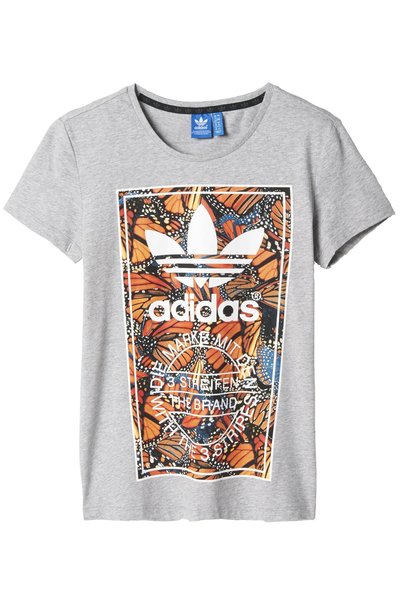 Printgrismulticolor Original Butterfly Adidas Camiseta Mujer F1TKJcl