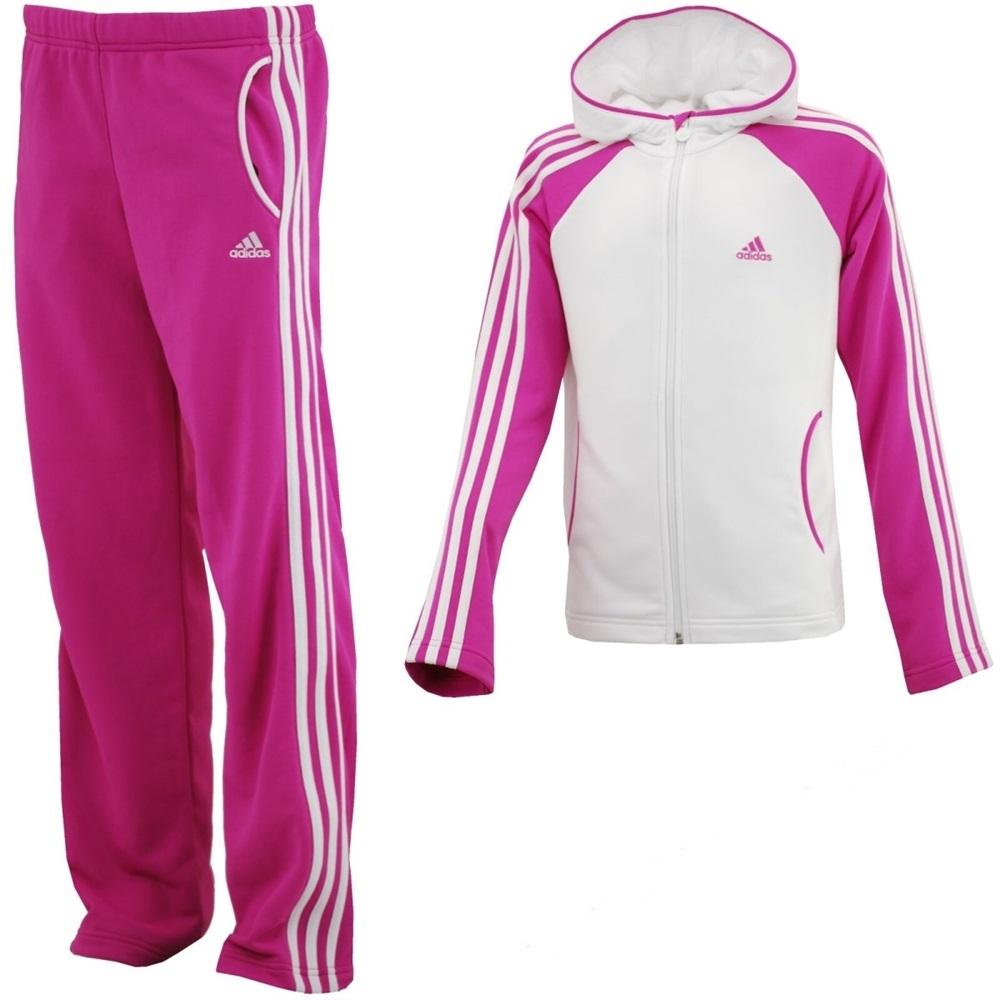 Juicio Red Hacer la cena  Adidas Chandal Knit TS Open Hem (blanco/rosa)
