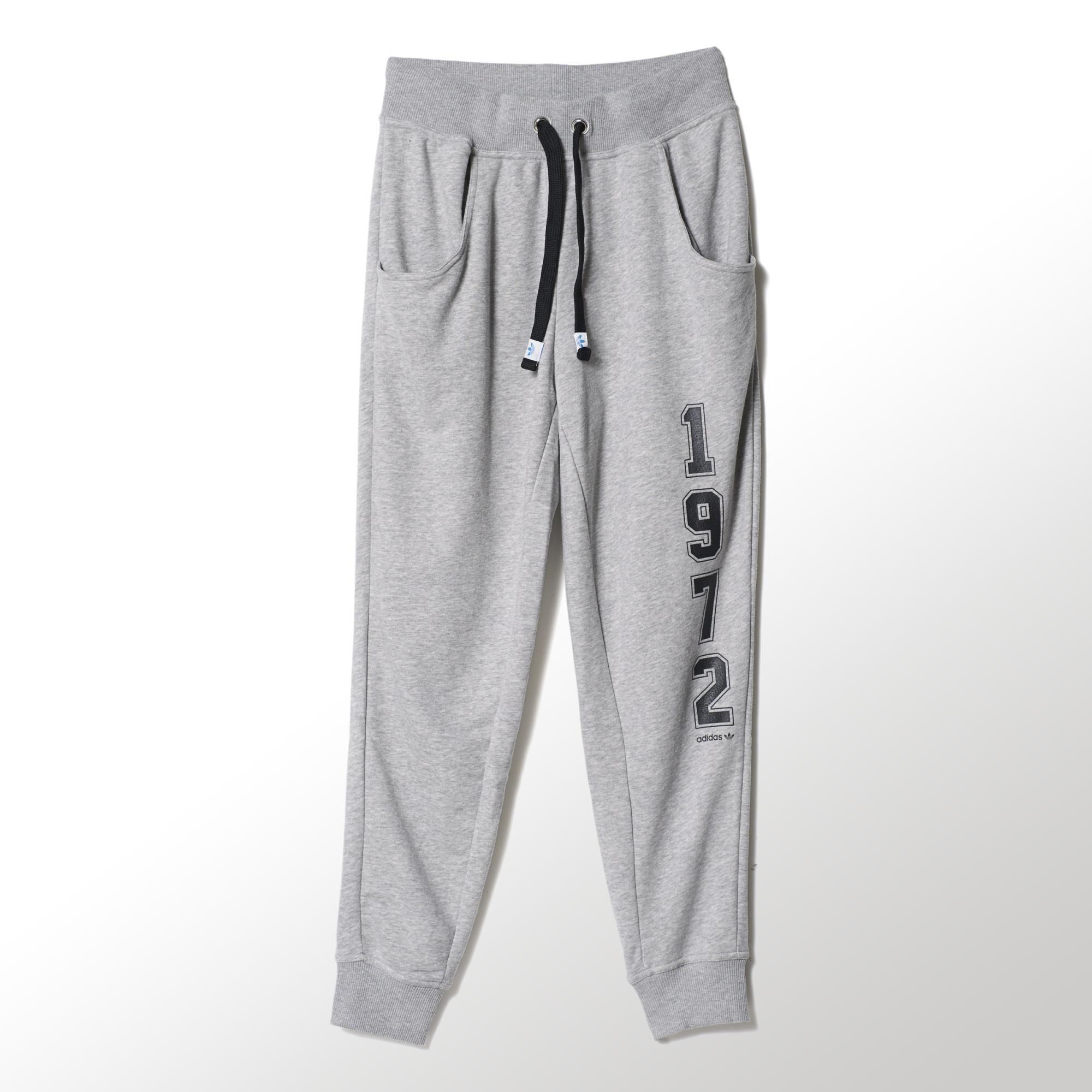 Adidas Mujer Originals gris Logo Pantalón Baggy Essentials SS6wrqpxPn