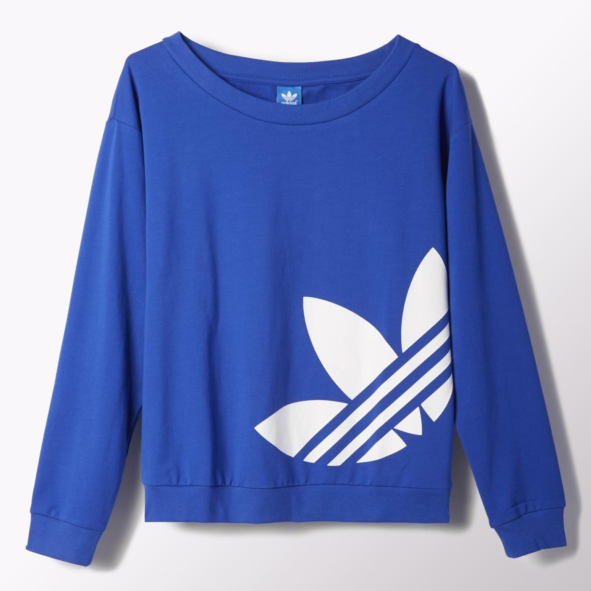 Adidas Originals Light Logo Sweater Mujer (azulblanco)