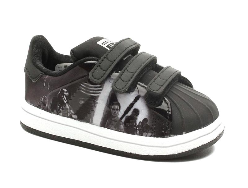 new arrival 993c4 0b294 Adidas Originals Superstar Modern Star Wars Infantil (negra blanco)