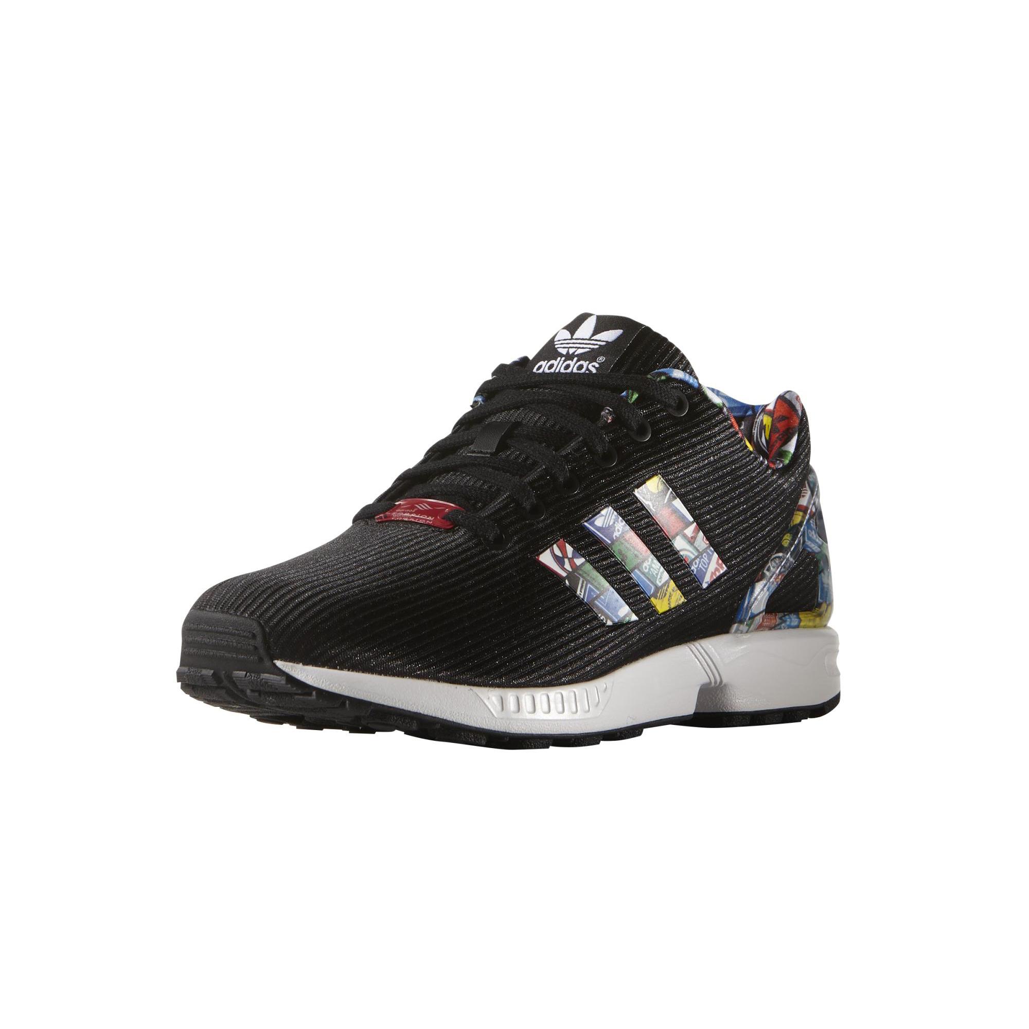 the best attitude cad52 7c0ef ... sale adidas originals zx flux black tongue negro multicolor 13b8c a93e6