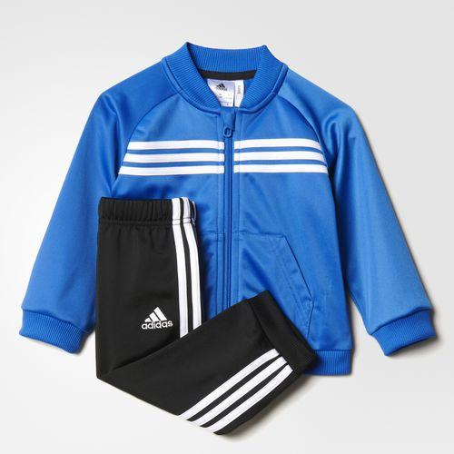 56a25fcf3 Adidas Chándal Bebé Shiny (blue black white)