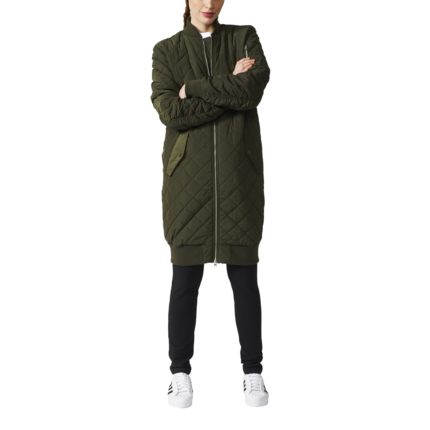 Long Jacket Quilted F15 Adidas WNight Cargo Bomber Originals hBsxtdCQr