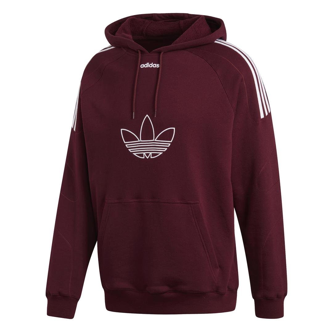 Flock Adidas maroon Originals Hoodie Trefoil 11nz5qPg