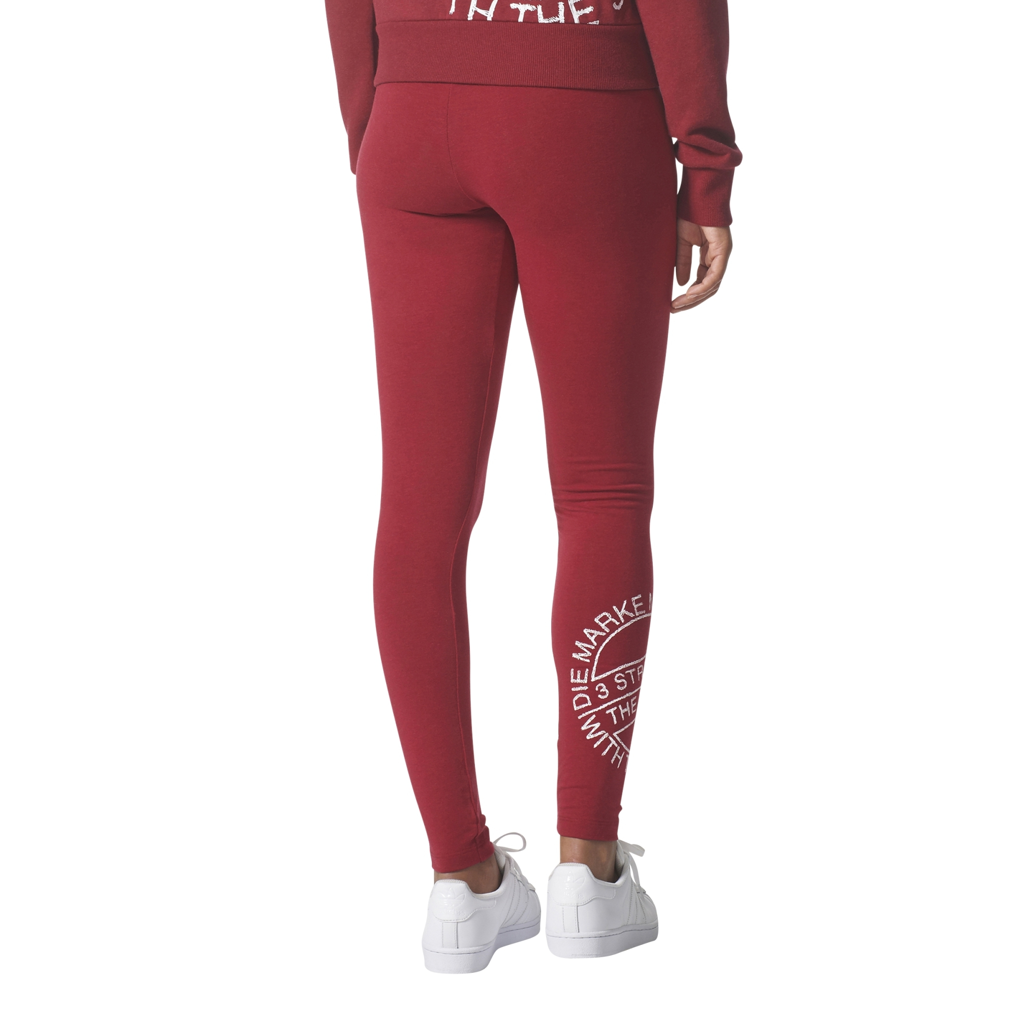 Adidas Originals Leggings Logo 3 Stripes (Collegiate Burgundy Me