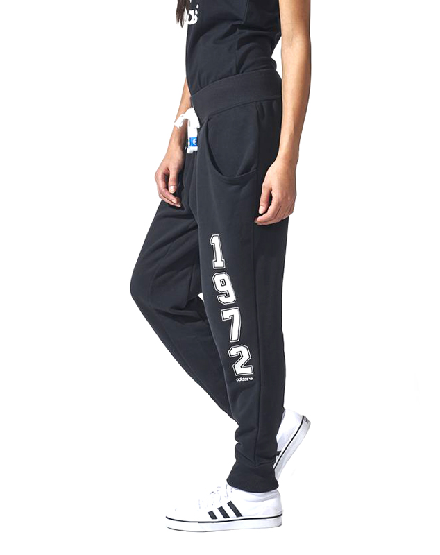 02a814455be6 Adidas Originals Pantalón Mujer Logo Essentials Baggy (negro/blanco)