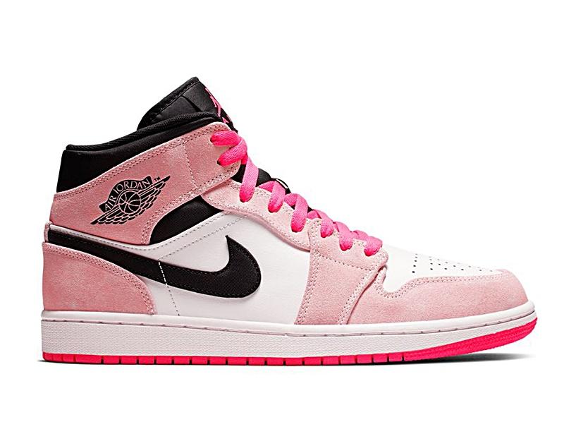air jordan 1 mid mujer rosa