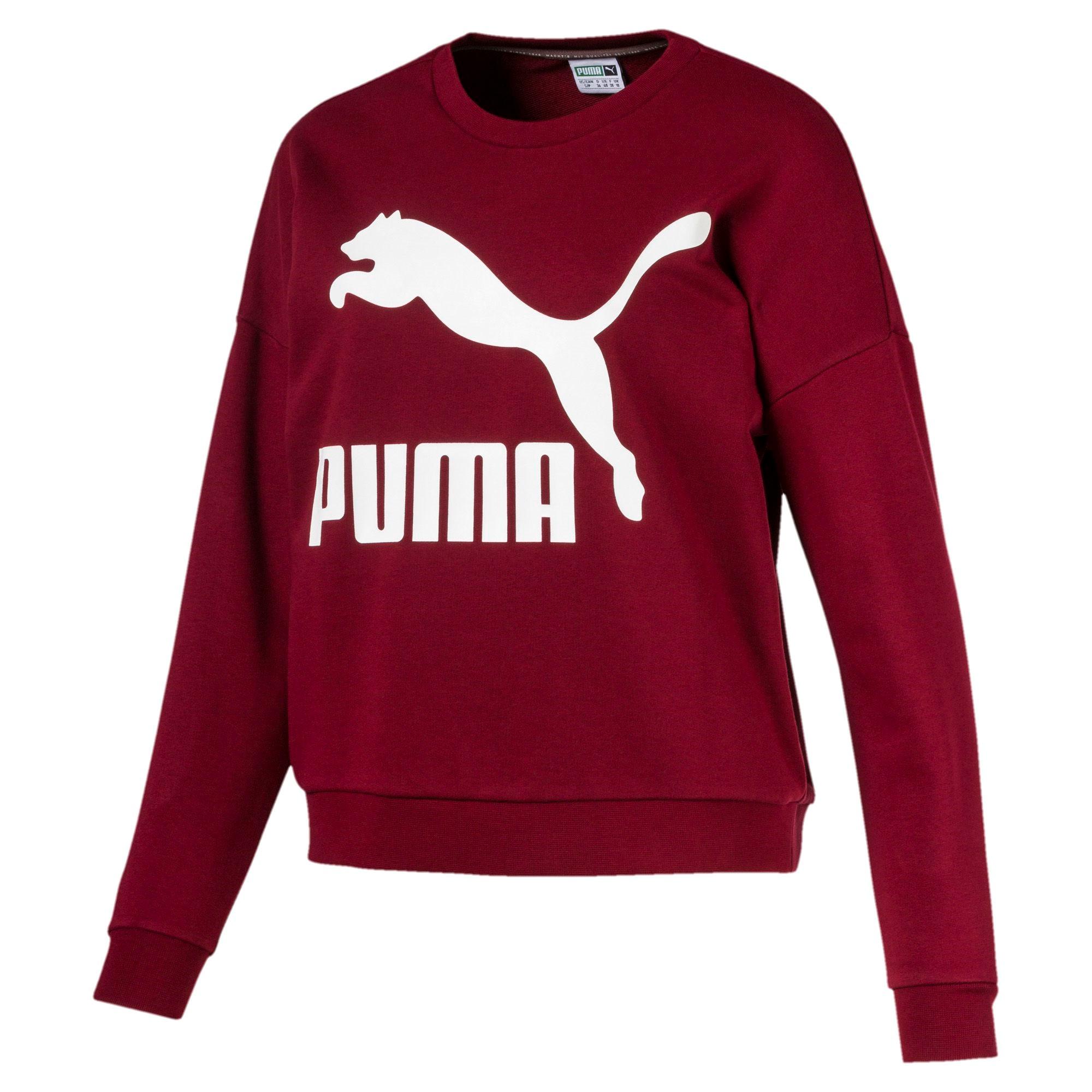 edb8f18d1 Puma Classics Logo Crew Wn´s (Pomegranate)